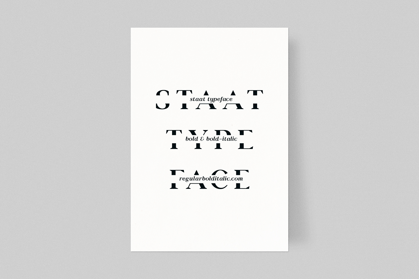 Staat typeface rbi